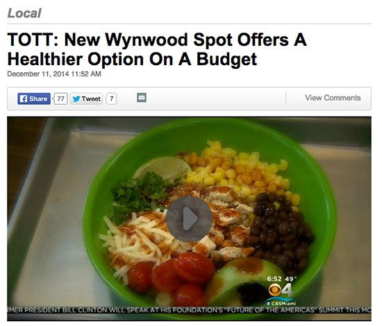 CBS with a great story on a new Restaurant Promoting Healthy Dining!