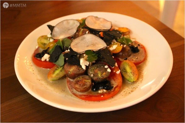 Heirloom Tomato Fattoush Salad, photo by: mitchandmeltakemiami.com