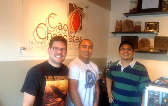 At Cao Chocolates (Ricardo Trillos), RocKatIceCream (Allan Vino) and Greatfoodlist (Carlos Osorio)