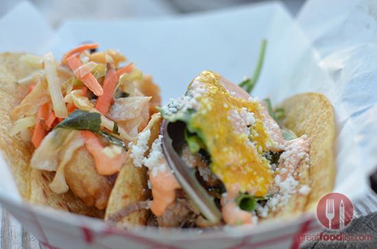Crispy Shrimp Taco / Tio's 5 Spice Pork Taco