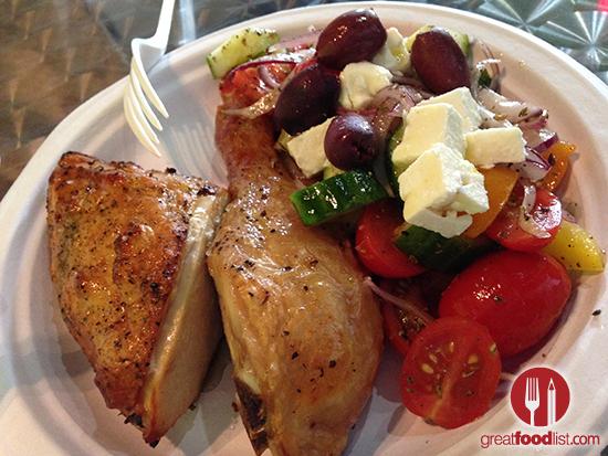 Chicken and Greek Salad