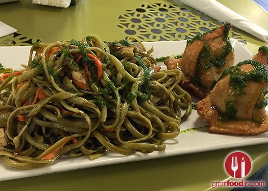 Spinach Pasta and Chicken Empanada